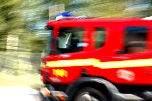 Larm om skogsbrand – såg rök