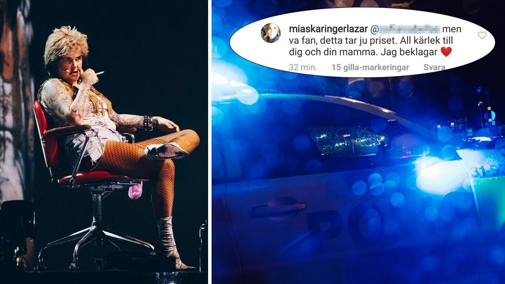 Kvinna dömd för misshandel under Mia Skäringers show