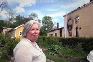 """Huset räddades av vinden: """"Tackar vår lyckliga stjärna"""""""