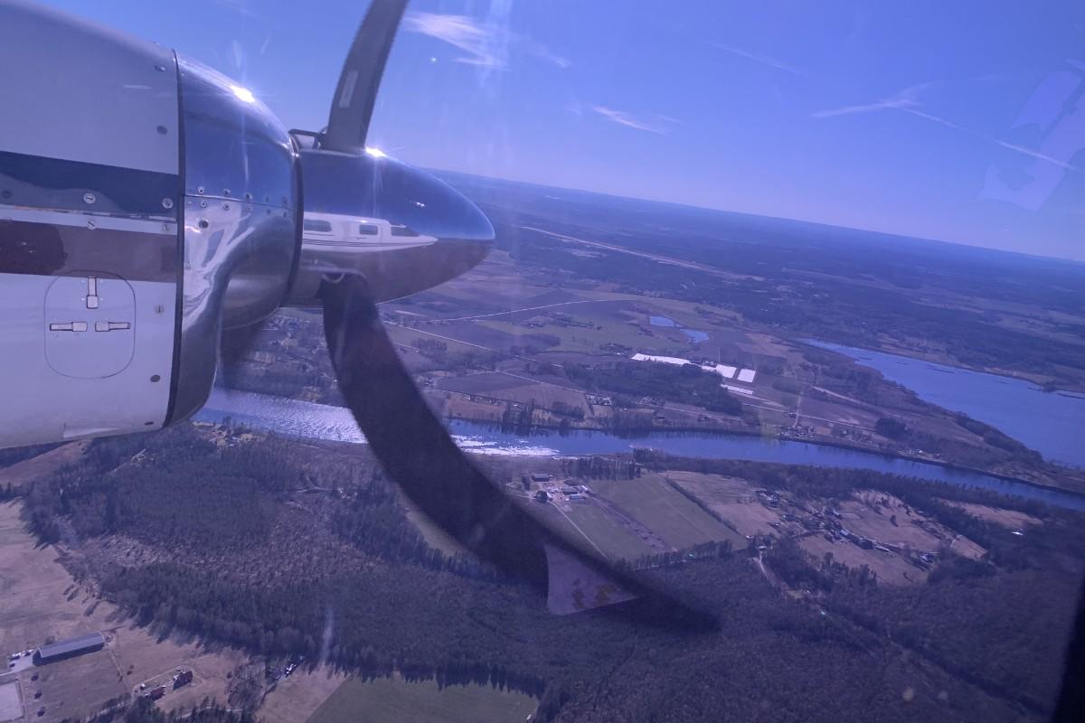 Flygande start för Lantmäteriets flygfotografering