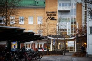 Stor vattenläcka på Sunderby sjukhus i Luleå - två meter högt vatten
