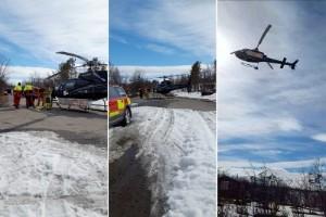 Sällskap på sex personer räddade från isdrama