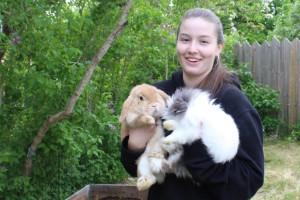 """Nathalie öppnar pensionat för """"semestrande"""" kaniner"""