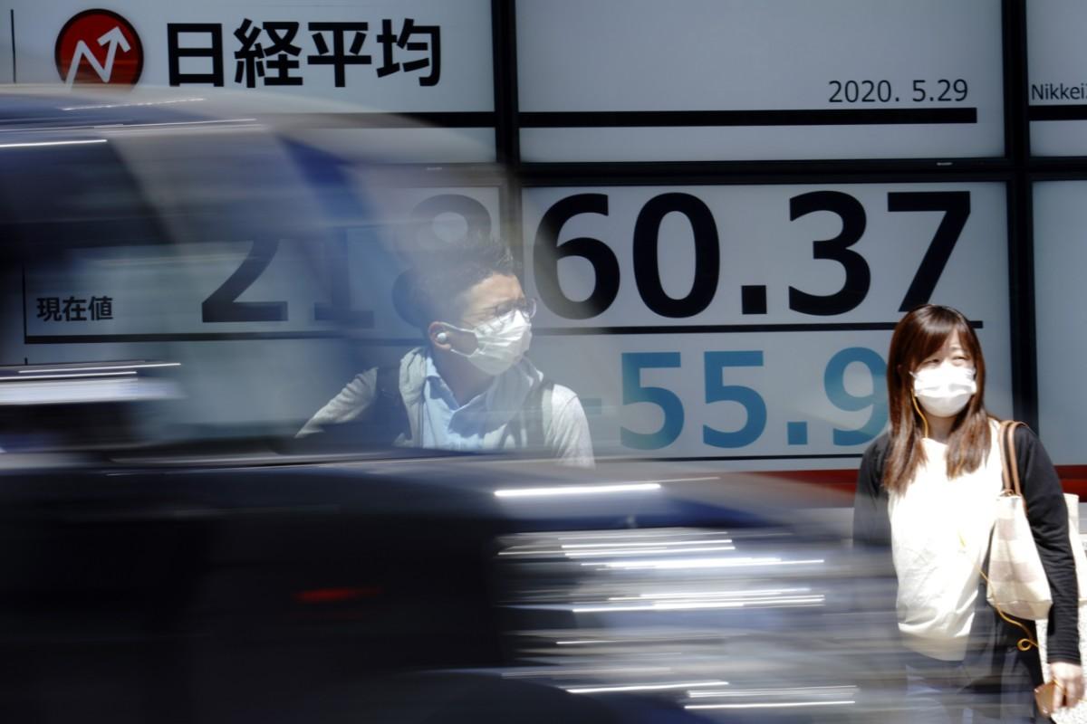 Kraftigt nedåt i Tokyo