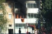 Brand i flerfamiljshus i Boden