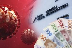 Regionens coronanota: 105 miljoner kronor