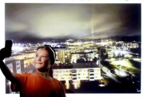 Minifotograf fångade magiskt nattljus över Årby