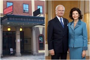 Kungen och drottningen besöker Reginateatern