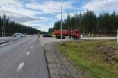 Olycka strax utanför centrala Luleå