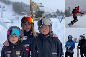 """Lyckliga premiäråkare i Kåbdalis • """"Äntligen får vi åka skidor"""""""
