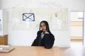 Fatima Moallim skapar live direkt på plats