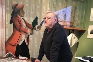 Släktforskaren Ulf Holmberg föreläste på Solandergården om projektet Piteborgare
