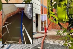 """Uppgifter: Sommarens regnvatten rann in på Sunderby sjukhus – utan att det märktes • """"Det är ända upp till taket"""""""