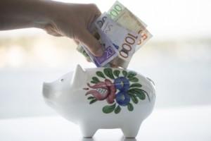 En slant på banken ger välbehövlig ro i oroliga tider
