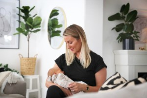 """Entreprenören Veronica om att föda barn i pandemi – fick covid-19 som gravid: """"Man måste bara kämpa"""""""