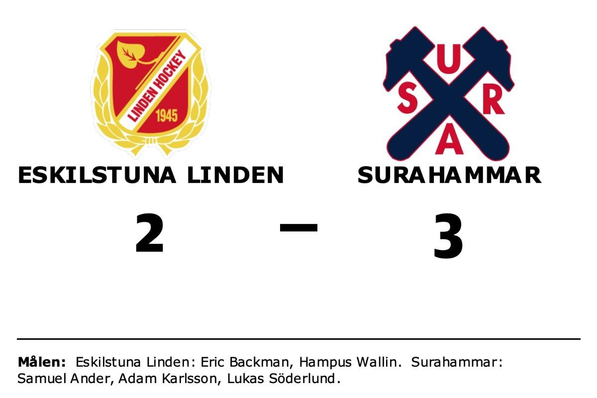 Eric Backman och Hampus Wallin målskyttar när Eskilstuna Linden förlorade