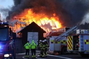 Byggnaden gick inte att rädda – endast stommen kvar