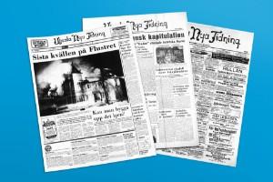 När brann Flustret? Hur såg förstasidan ut dagen du föddes? Testa UNT:s digitala arkiv!