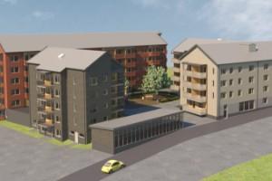 De ska bygga 115 hyresrätter i Kronandalen i Luleå