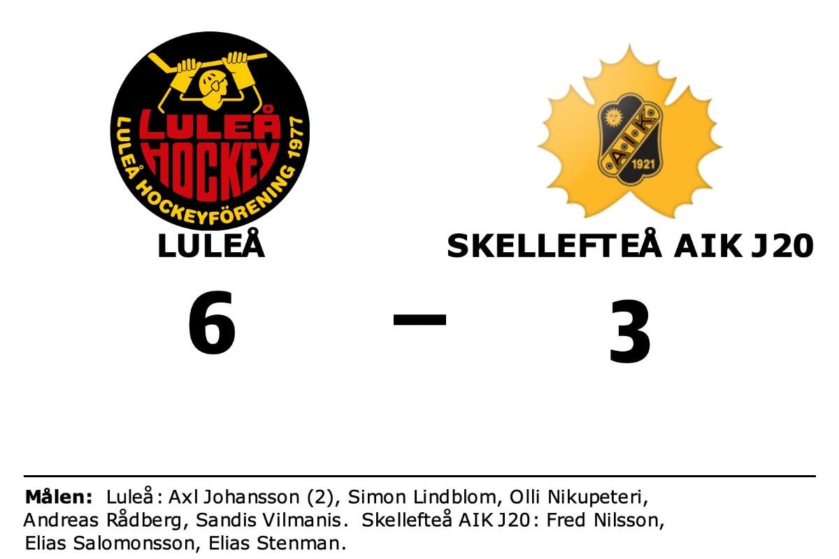 Axl Johansson i målform när Luleå vann