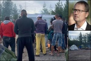 """Strandsatta bärplockare tvingas bo i tältläger – kopplas till bärbaronen: """"En lurendrejare som utnyttjar utsatta människor"""""""