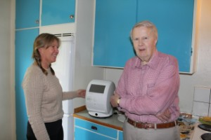 Gunnar, 78 först ut att få läkemedelsrobot i hemmet