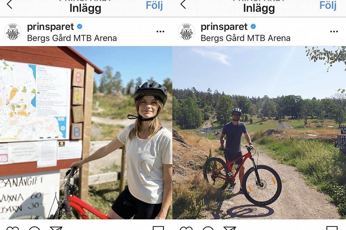 Prins Carl Philip på cykelsemester i Trosa