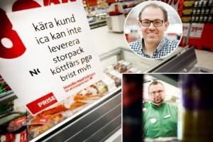 """Svenskt nötkött en bristvara: """"Begränsad tillgång"""""""