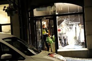 Inbrott i butik i centrala Norrköping i natt