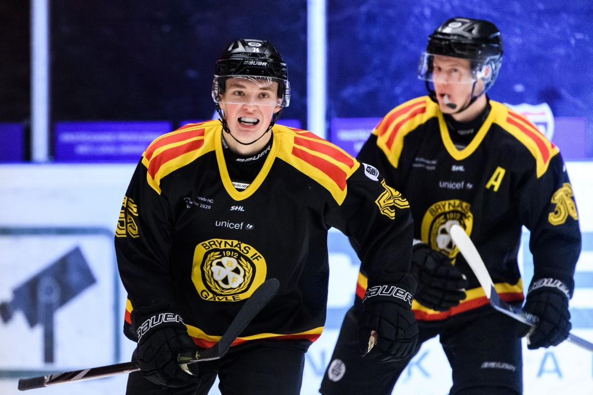 Se klippet: Gunler gör sitt första mål för Brynäs