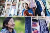 Hon arbetar med japanska kimonos – i Gunnarsbyn