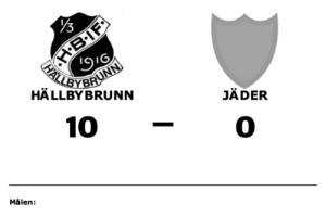 Målfest när Hällbybrunn krossade Jäder