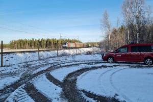 Gasollukt stoppade tåg mellan Älvsbyn och Boden