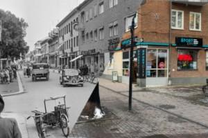 Handelsbankshuset på Nygatan – så såg det ut 1952 och så har stadsbilden förändrats