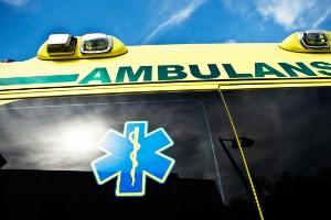 Mc-olycka utanför Kisa – en till sjukhus