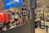 Stöldförsök i butik – rutor krossade