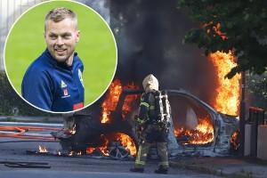 """Sebastian Larsson om bilbranden: """"Tacksam att det inte hände på natten"""""""