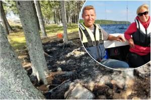 """Brand på ö i Luleå – då ryckte ögrannarna ut: """"Hade kunnat bli förödande"""""""