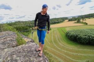 """Här finns några av landets bästa klättringsplatser: """"Lätt dödsångest"""""""