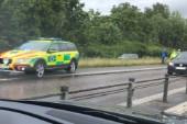 Störningar i trafiken på E20 efter olycka
