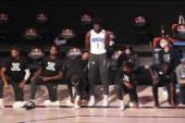 Trotsade NBA-protest – stod upp i laglinne