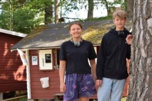 Ungdomar drev en kiosk på egen hand