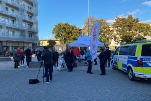 Ungdomsjour och polis trivselvandrade i Uppsala