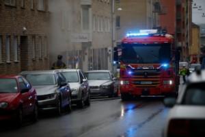 """Brand bröt ut i underjordiskt garage på Luntgatan • """"Troligtvis har det börjat brinna i en tvättmaskin"""""""