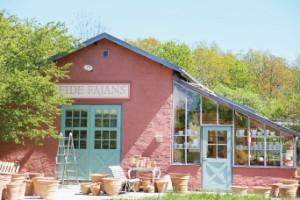 Fide Fajans - den rosa keramikbutiken på Sudret