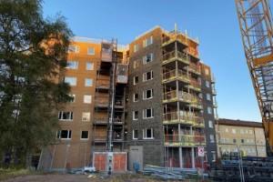 """Höghusbygget i Motala: """"Vi vill inte ha för mycket vind"""""""