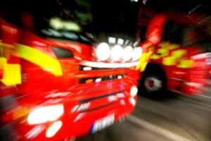 Brand i fritidshus - man räddades av brandvarnaren