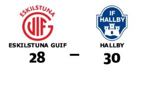 Förlust för Eskilstuna Guif hemma mot Hallby