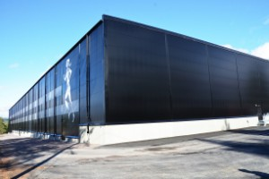 Nu står Gällivares nya friidrottshall klar