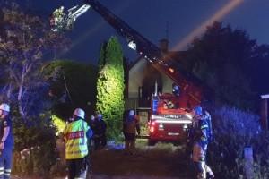 Brand i villa i Mariannelund